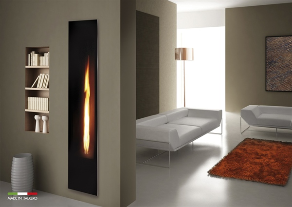 PATIO HEATER RE-INVENTED: A FALO'-DOLCEVITA STYLE GAS FIREPLACE FOR INTERIOR